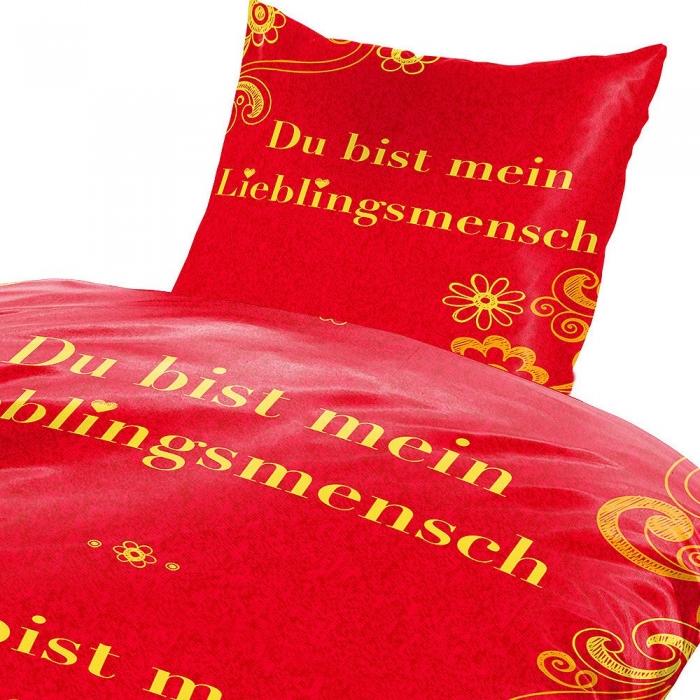 Bettwäsche 2-teilig Garnitur m Reißverschluss Bettbezug Microfaser 135 x 200 cm
