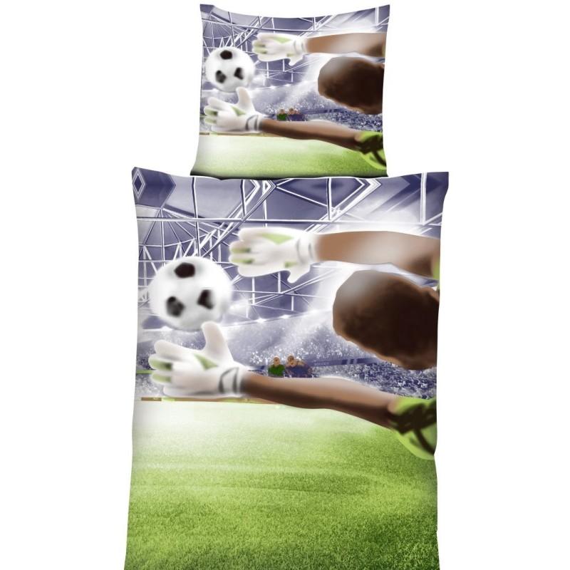 Bettwäsche Bettwäsche Fußball 135x200 Cm Mit Rundkissen