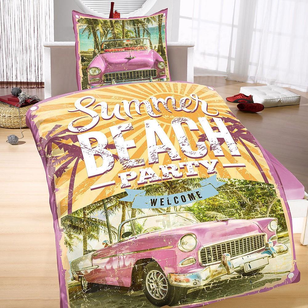 US CABRIO Summer Cuba Beach Party Mikrofaser Bettwäsche 135x200 cm